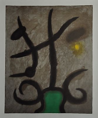 Joan Miró Ltd. Ed. Signed Lithograph 45x56 Femme Assise II/V Maeght Editeur 1965