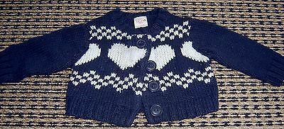 Seed Baby Girlswool Blend Cardigan  Sz 3 - 6 Months