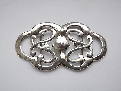 Antique Arts & Crafts Celtic Silver Nurses Buckle - Deakin & Francis - 1907