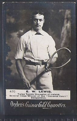 Ogdens Guinea Golds-Tennis Numbered Card-#470- Lewis