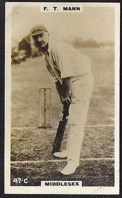 PHILLIPS-CRICKET ERS BROWN BACK F192-#047c- MIDDLESEX - MANN