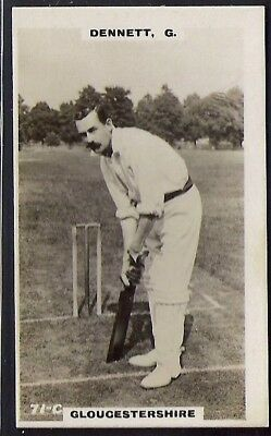 PHILLIPS-CRICKET ERS BROWN BACK F192-#071c- GLOUCESTERSHIRE - DENNETT