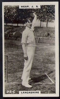 PHILLIPS-CRICKET ERS BROWN BACK F192-#095c- LANCASHIRE - HEAP