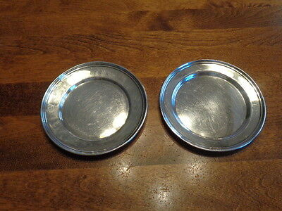 2 Small Sterling Silver Plates