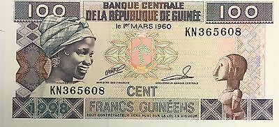 Africa French Guinea ���� 100 Franc Note 1960 UNC