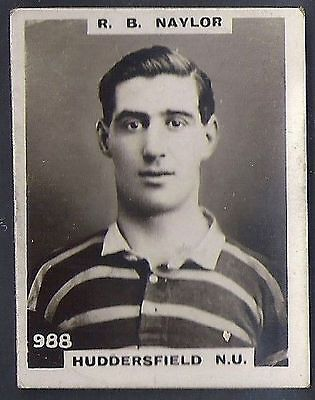 Pinnace Football-Pinnace Back-#0988- Rugby - Huddersfield N.u. - R. B. Naylor