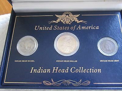 Indian Head Collection 3 COINS