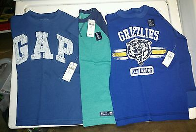 Gap Boys Size 4 and 5 Shirt Lot of 3 NEW w Tags Long Sleeve Shirts