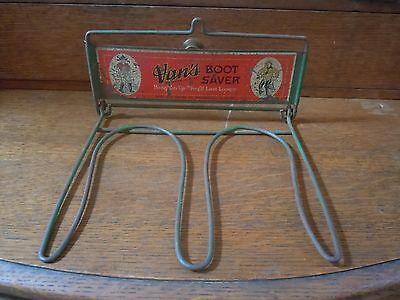 Vans Boot Saver Vintage Hanging Fishing Boot Dry Rack Advertising MN Lodge Decor
