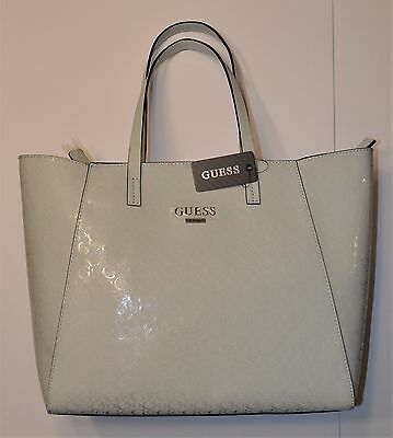 1939bb0f3b4f Brand New GUESS Signature Handbag Tote Purse Cloud LIBERATE BB508825 Light  Gray