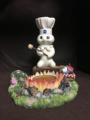 Gone Camping 🔥Candle Holder Danbury Mint Pillsbury Doughboy Collectible