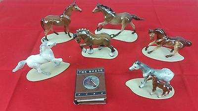 Hagen-Renaker Lot of 6 Miniature Horses with Small Book by Joanne Bollenbacher