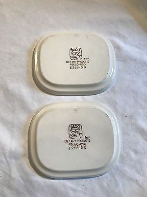"""Vintage REGO Airline Plates 4 ½"""" x 5 ½"""" Set of 2 for Dietary Products"""