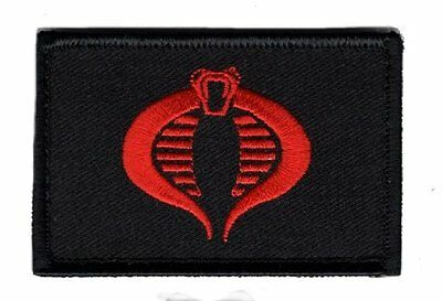 GI Joe Cobra RED Cosplay Embroidered Snake morale hook patch