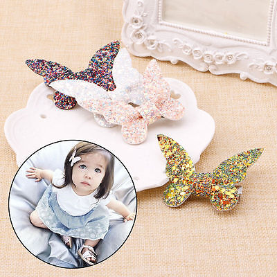 Toddler Children Baby Girls Sequin Bow Barrettes Hair Clip Hairpin Accessories
