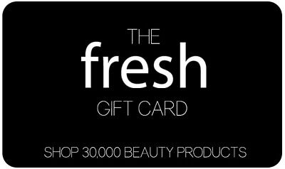 NEW Fresh GIFT CARD Value $50 Pay only $45 Buy Cosmetics  Perfume  Skincare
