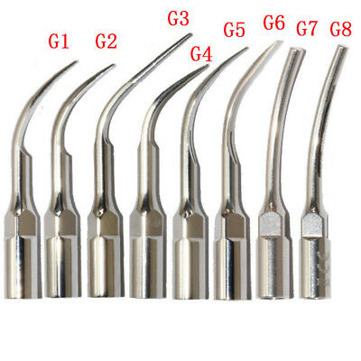 8 Types Dental Scaler Tips G1-G8 Scaling Fit EMS Woodpecker NEW