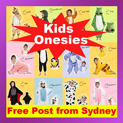 Unisex Children Onesie Kigurumi Pajamas Anime Cosplay Costume Sleepwear