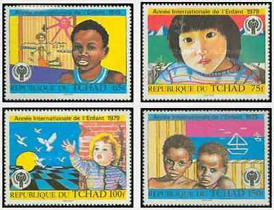 Timbres Enfance Tchad 365/8 ** lot 19255