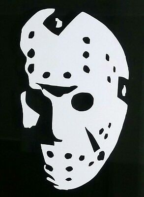 Friday the 13th  jason voorhees  hockey mask sticker decal