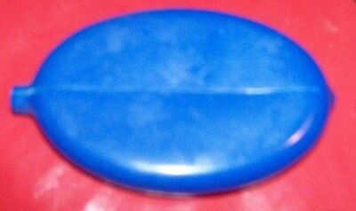 Blue RUBBER SQUEEZE COIN HOLDER CHANGE PURSE OVAL