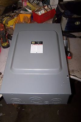 New Square D 200 Amp Fused Safety Switch 600 Vac 150 Hp 3 Phase H364N