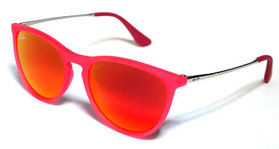 Ray Ban 9060S 9060/s 50 Junior 70096Q Sunglasses Pink Mirror Bambini Baby Sole