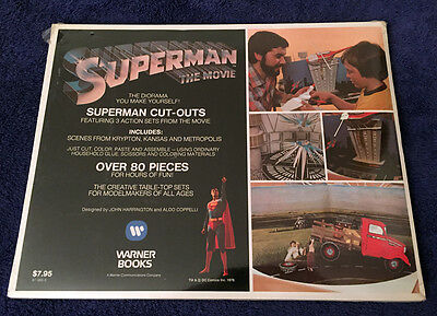 Rare Superman The Movie Cut-Outs Diorama Book 1978 - Christopher Reeve - Sealed!