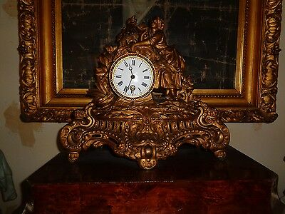 Antique French Figural Clock