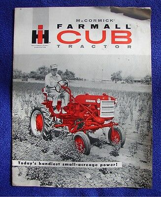 Vintage 1960 International McCormick Farmall Cub Tractor Sales Brochure