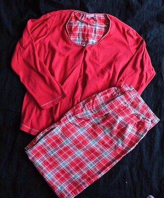 Motherhood Maternity 2 Piece Red Plaid Nursing Pajamas PJs Size Medium