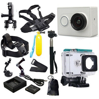 NEW Original 1080P Xiaomi Yi Sport Action Camera Accessories Kit Charger Battery