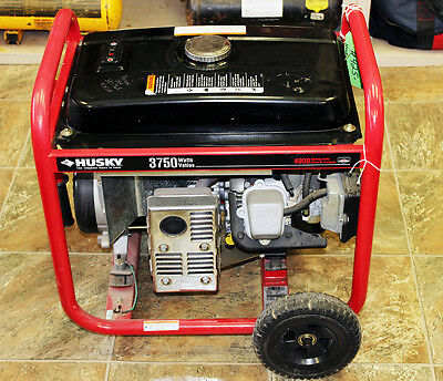 Husky 030438 3750 Watt Portable Generator w/ Briggs&Stratton Engine