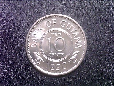 Guyana  10  Cents   1990  Ss   Unc