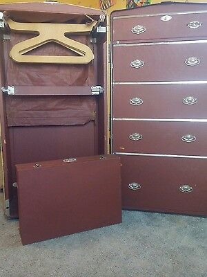 Vintage Wardrobe Steamer Travel Chest