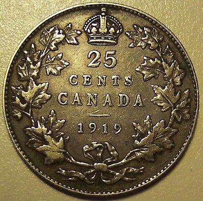 1919 Canada 25 Cents