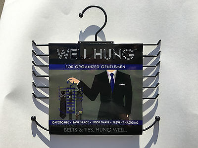All-In-One Belt Ties Well Hung Organizer Hanging Rubyscloset Buckles