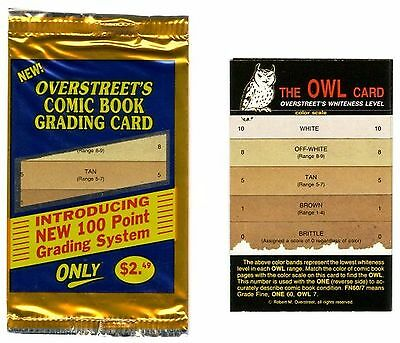 OVERSTREET WHITENESS LEVEL COMIC BOOK GRADING CARD (1) OWL Card for Paper Color