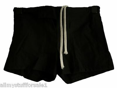 "Rugby Training Fitness Shorts Hockey Gym Sport Black or Blue Waist 26 26"" - NEW"