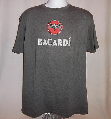 Bacardi Rum T Shirt Large Bat New Without Tag