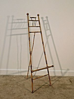 ANTIQUE Victorian Bamboo Easel Portrait Stand