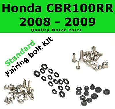 Fairing Bolt Kit body screws fasteners for Honda CBR 1000 RR 2008 2009 Stainless