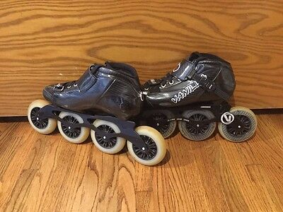 Vanilla inline speed skates Carbon Black Mens size 8