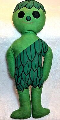"Vintage JOLLY GREEN GIANT Promo 16"" SPROUT Cloth Stuffed Pillow Doll"
