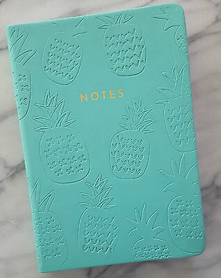 New Blank Cute PINEAPPLE NOTES Journal Inspiring Diary Eccolo Turquoise Notebook