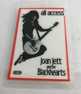 Joan Jett & The Blackhearts  Laminated Backstage Pass / Original & Authentic