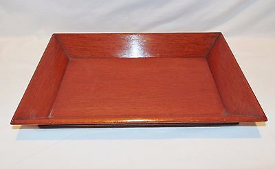 #9 Exceptional Antique Chinese Hand Carved Teak? Rosewood?Serving / Dresser Tray