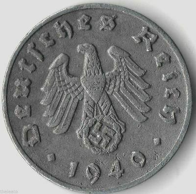 Rare Old Antique Vintage Germany WWII Army Great WW2 World War 2 Collection Coin