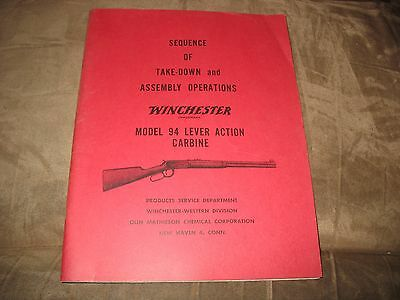 Winchester Model 94 Lever Action Carbine Take-Down & Assembly Operations