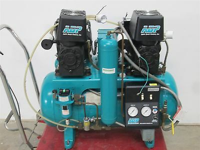 ADP Apollo ALCTL42D Dual Motor Oiled Dental Air Compressor w/ 100 PSI & 2 HP